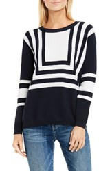 Vince Camuto Women's Two By Nautical Intarsia Blocked Pullover