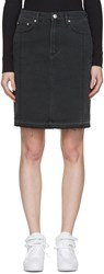 Won Hundred Black Denim Carola Miniskirt