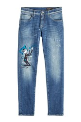 Dolce And Gabbana Patched Slim Jeans