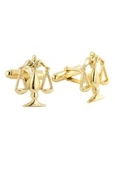 Men's David Donahue 'Scales Of Justice' Cuff Links Gold Legal