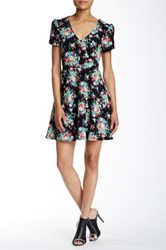 Painted Threads Short Sleeve Knit Fit And Flare Dress Multi