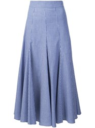 Tome 'Skinny Stripe Godet' Skirt Blue