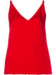 Golden Goose Deluxe Brand V Neck Camisole Women Cupro Viscose 6 Red