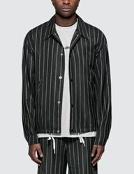 Alexander Wang Logo Wool Jacquard Coaches Jacket