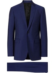 Burberry Slim Fit Wool Mohair Suit Blue