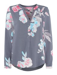 Joules Pop Over Blouse Grey