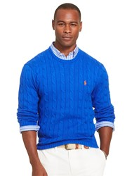 Polo Ralph Lauren Cable Knit Crew Neck Jumper Heritage Royal