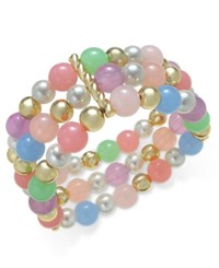Charter Club Gold Tone Colorful Beaded Link Bracelet Only At Macy's
