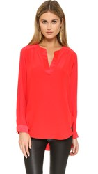 Amanda Uprichard Highliner Blouse Candy Apple
