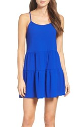 Mary And Mabel Women's Babydoll Dress Royal Blue