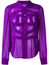 Comme Des Garcons Vintage Sheer Shirt Pink And Purple