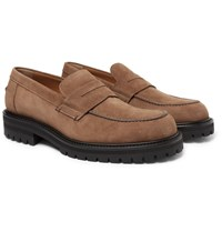 Mr P. Jacques Suede Loafers Brown