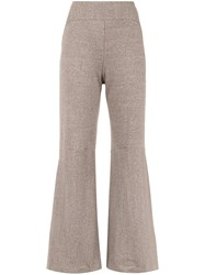 Osklen Eco Rib Wide Trousers Nude And Neutrals