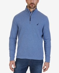 Nautica Men's Quarter Zip Pullover Sweater Deep Anchor Heather