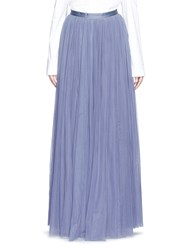 Needle And Thread Layered Tulle Maxi Skirt Blue