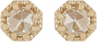Grace Lee Petite Crown Bezel Diamond Studs Colorless