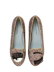 Chiara Ferragni 10Mm Flirting Glitter Loafers