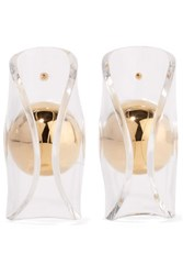 J.W.Anderson Globe Gold Plated Acrylic Earrings One Size