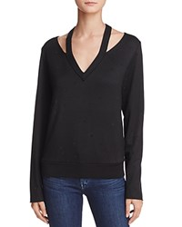Bailey 44 Spin Off Embellished Cutout Sweatshirt Black