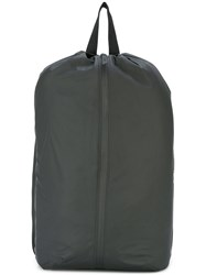 Rains Front Zip Backpack Men Polyester One Size Black