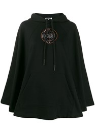 Mcq By Alexander Mcqueen Logo Embroidered Hoodie Black