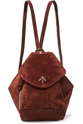 Manu Atelier Fernweh Mini Suede Backpack Burgundy