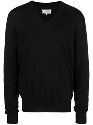 Maison Martin Margiela Classic V Neck Sweater Black