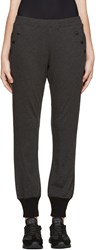 Y 3 Grey Button Trimmed Lounge Pants