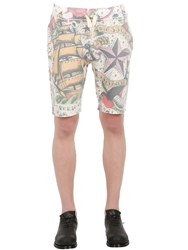 Bob Strollers Tattoo Printed Cotton Jogging Shorts Multi