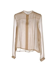 Daniele Carlotta Long Sleeve Shirts Sand