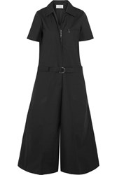 Maison Martin Margiela Coated Cotton Blend Poplin Jumpsuit Black