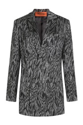 Missoni Printed Metallic Jersey Blazer Multicolor
