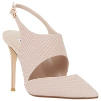 Dune Caprice Cut Out Sling Back Court Shoes Blush Reptile