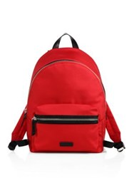 Uri Minkoff Paul Nylon And Leather Backpack Red Seal