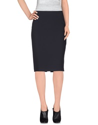 Caractere Knee Length Skirts Dark Blue