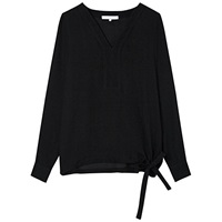Gerard Darel Silk Beaumont Blouse Black