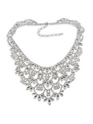 Cristabelle Crystal Statement Necklace Silver