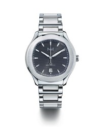 Piaget Men's Stainless Steel Black Automatic Watch