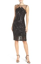 Adrianna Papell Women's Sequin Sheath Dress Black