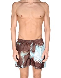 Fifteen And Half Swim Trunks Dark Brown
