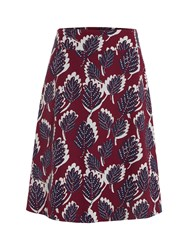 White Stuff Dotty Leaf Reversible Skirt Red