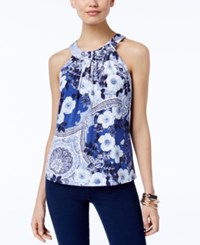Inc International Concepts Printed Halter Top Only At Macy's Florentine Flow