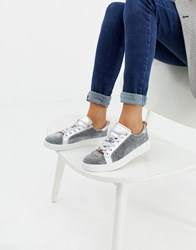 Ted Baker Silver Sparkle Trainers