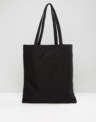 Asos Tote Bag In Black Black