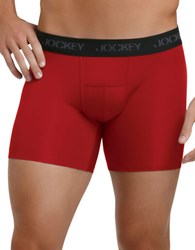 Jockey Two Pack Big And Tall Athletic Fit Boxer Briefs Red