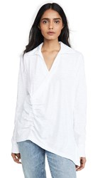 Wilt Ruched Collared Tee White