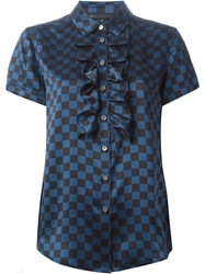 Marc By Marc Jacobs Checked Blouse Blue