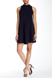 Romeo And Juliet Couture Mock Neck Swing Dress Blue