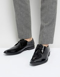 Frank Wright Derby Shoes In Patent Leather Black