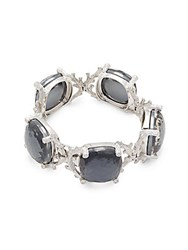 Michael Aram Twig Faceted Stone Studded Bracelet Silver